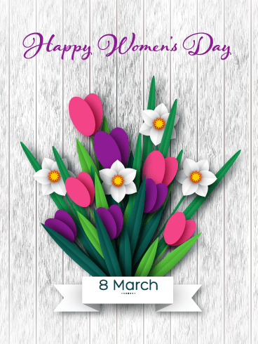 Beautiful Flowers – International Women's Day Card