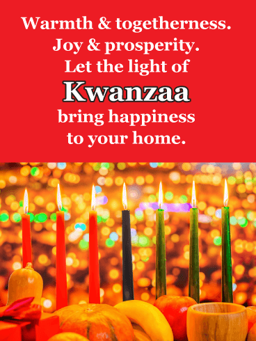 Warmth & Togetherness - Happy Kwanzaa Card