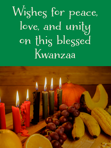 Surrounded by a Harvest - Happy Kwanzaa Card