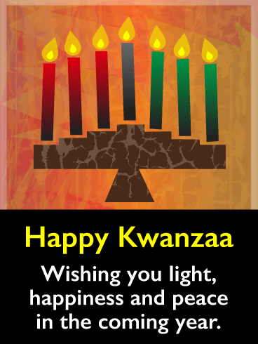 Happiness and Peace - Happy Kwanzaa Card