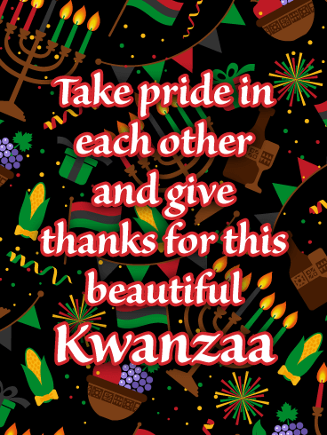 The Traditional Symbols - Happy Kwanzaa Card