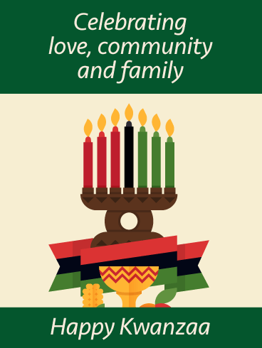 The Rich and Warm Colors and Symbols - Happy Kwanzaa Card