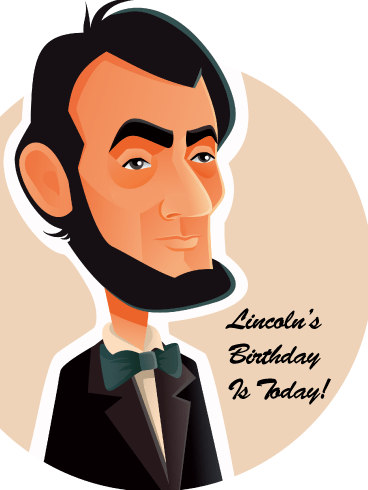 Abraham Caricature- Card for Lincoln's Birthday
