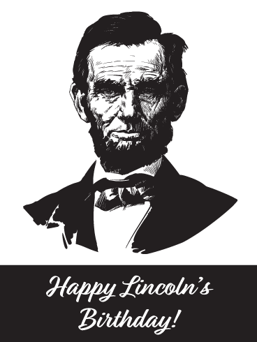 Classy Abraham Portrait- Card for Lincoln's Birthday