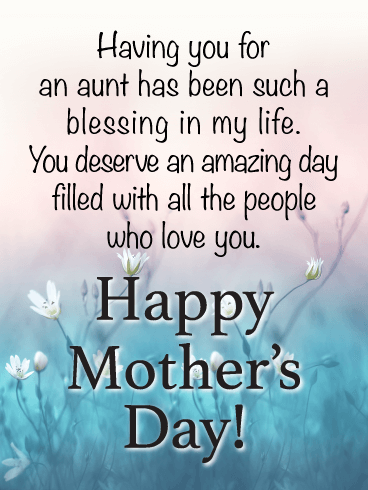 Such a Blessing - Happy Mother's Day Card for Aunt