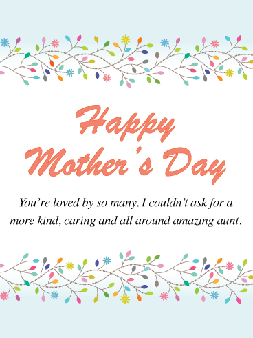 Happy Mother's Day Wishes for Aunt - Birthday Wishes and