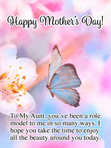 Beauty All around You - Happy Mother's Day Card for Aunt