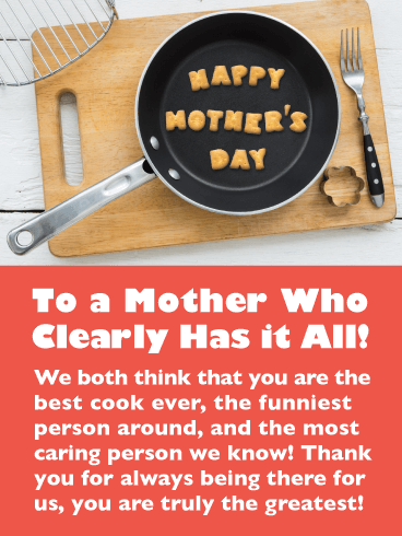 You're the Best! Happy Mother's Day Card from Both of Us