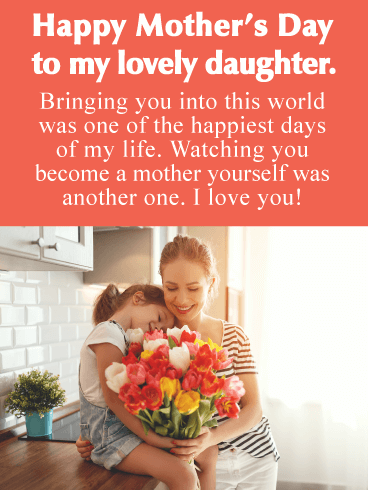 Happiest Days - Happy Mother's Day Card for Daughter