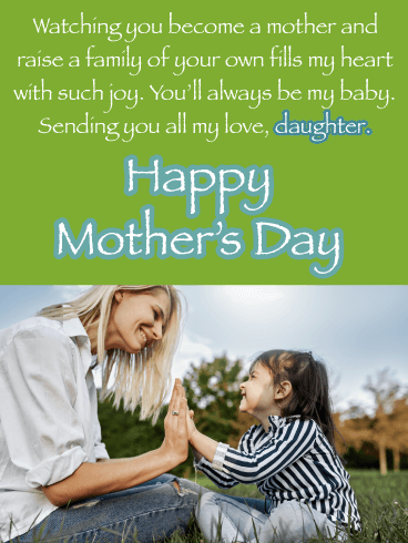 You'll Always Be My Baby - Happy Mother's Day Card for Daughter