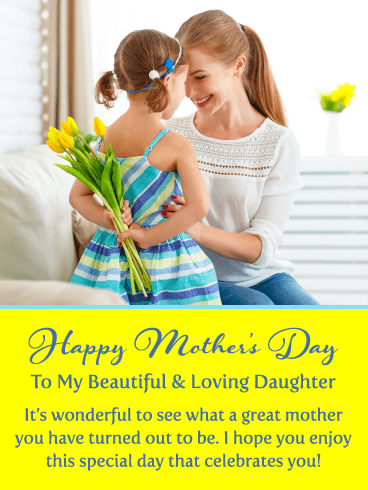 Beautiful & Loving – Happy Mother's Day Card for Daughter