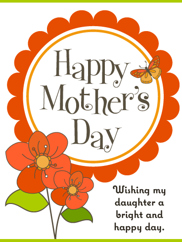 Bright & Happy Day – Happy Mother's Day Card for Daughter