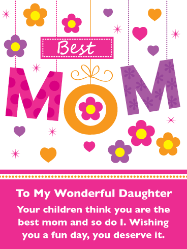 The Best Mom – Happy Mother's Day Card for Daughter