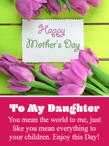 Pretty Pink Flowers – Happy Mother's Day Card for Daughter