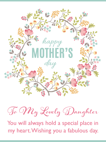 A Fabulous Day – Happy Mother's Day Card for Daughter