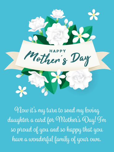 So Proud of You – Happy Mother's Day Card for Daughter