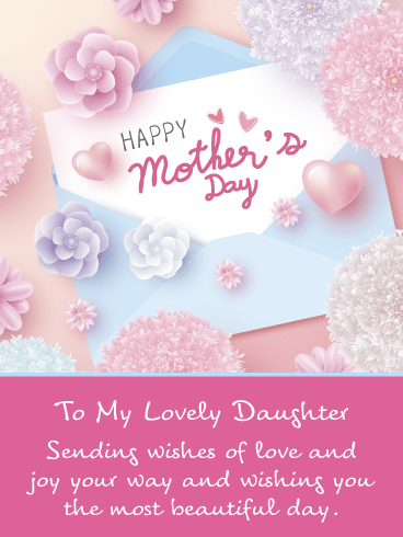 Sending My Love – Happy Mother's Day Card for Daughter