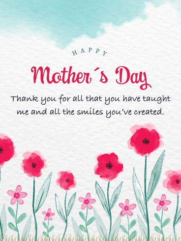 Sending Smiles Your Way - Happy Mother's Day Card from Daughter