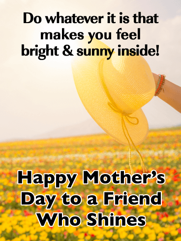 Bright & Sunny - Happy Mother's Day Card for Friends