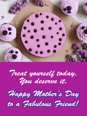 To the Fabulous Mom - Happy Mother's Day Card for Friends