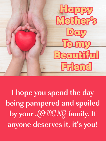 Loving Family - Happy Mother's Day Card for Friend