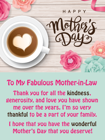 You're Fabulous! - Happy Mother's Day Card for Mother-in-Law