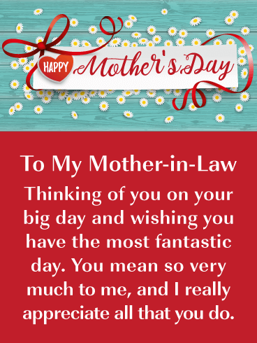 All That You Do - Happy Mother's Day Card for Mother-in-Law