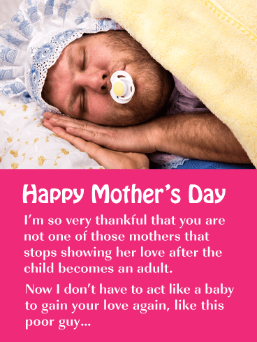 All for Mother's Love - Happy Mother's Day Card for Mother
