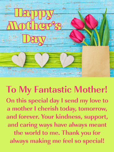 Sending My Love - Happy Mother's Day Card for Mother
