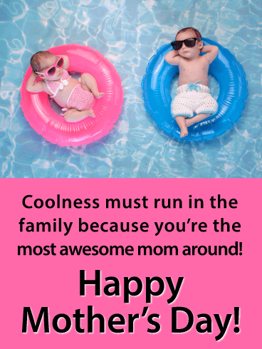 The Most Awesome Mom - Happy Mother's Day Card for Mother