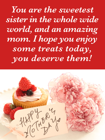 Berry Cupcake - Happy Mother's Day Card for Sister