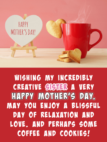 Coffee & Cookies - Happy Mother's Day Card for Sister