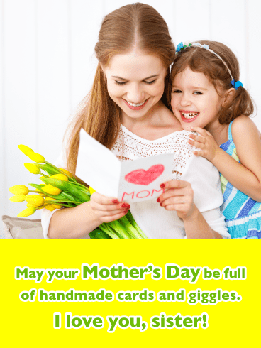 So Many Giggles- Happy Mother's Day Card for Sister