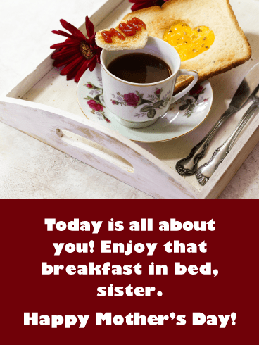 Breakfast in Bed- Happy Mother's Day Card