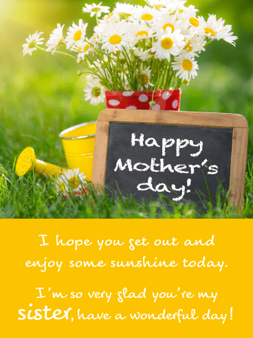 Sunshine & Daisies- Happy Mother's Day Card for Sister