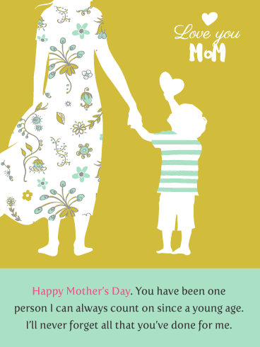 Counting On You - Happy Mother's Day Card from Son