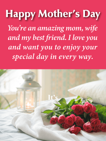 I Love You - Happy Mother's Day Card for Wife