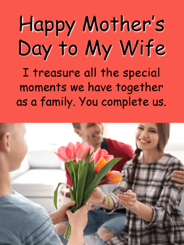 You Complete Us - Happy Mother's Day Card for Wife