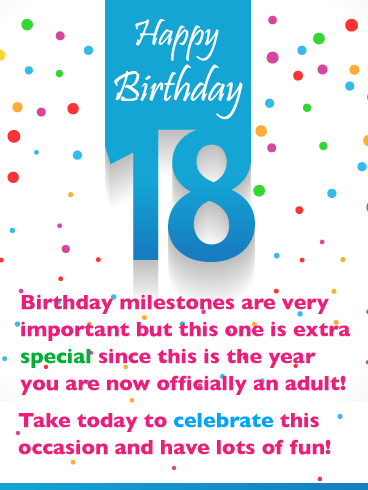 An Extra Special Day – Happy 18th Birthday Card