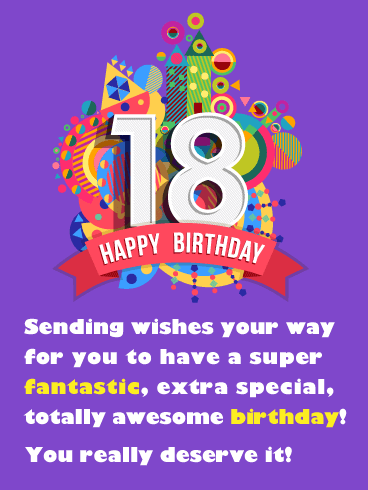 Fantastic & Awesome Day – Happy 18th Birthday Card
