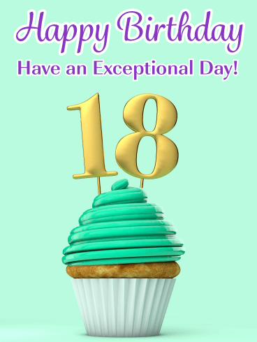A Perfect Cupcake – Happy 18th Birthday Card