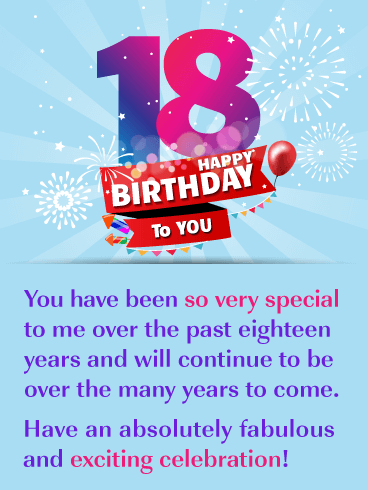 A Fabulous Celebration – Happy 18th Birthday Card