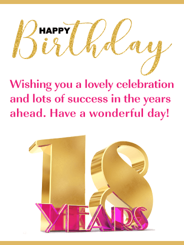 Wishing You Success - Happy 18th Birthday Card