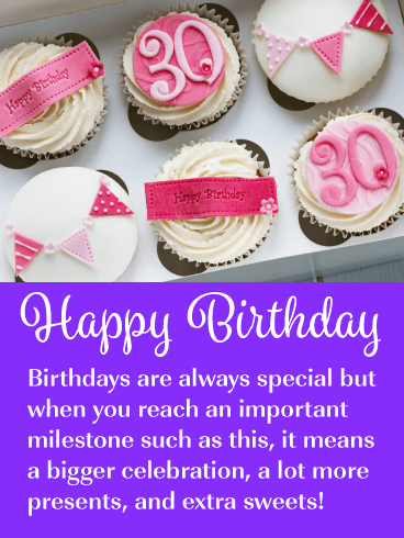 Special Cupcakes - Happy 30th Birthday Card