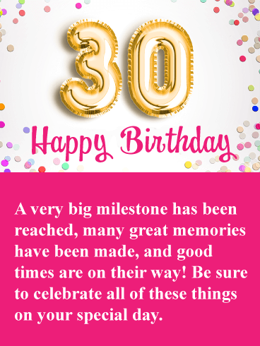 Great memories happy 30th birthday card birthday greeting great memories happy 30th birthday card m4hsunfo