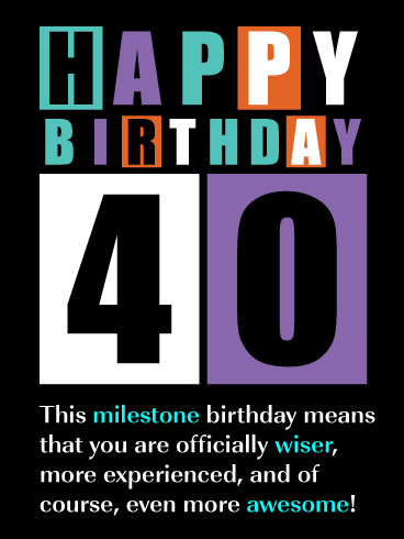 Officially Wiser - Happy 40th Birthday Card