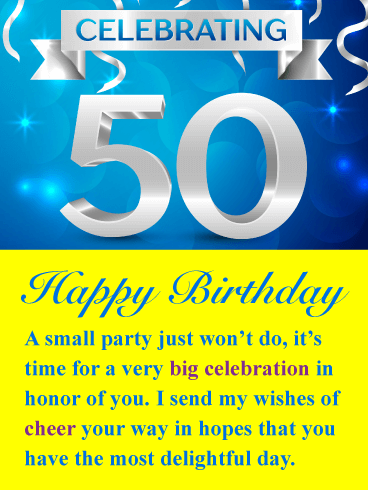 A Big Celebration Happy 50th Birthday Card