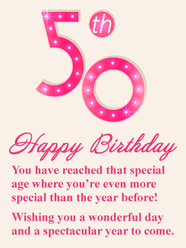 You're Special - Happy 50th Birthday Card