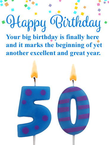 Another Great Year - Happy 50th Birthday Card