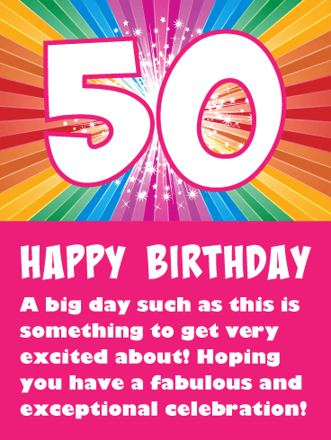 Joyful Celebration! Happy 50th Birthday Card